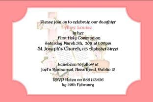 Personalised First Communion Invitations Daughter Design 1