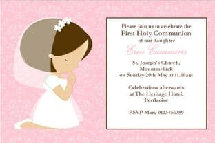 Personalised First Communion Invitations Daughter Design 11