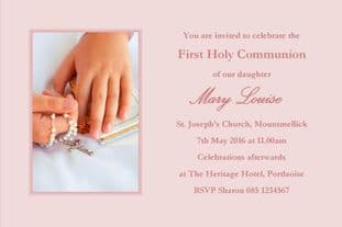 Personalised First Communion Invitations Daughter Design 12