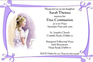 Personalised First Communion Invitations Daughter Design 3