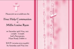 Personalised First Communion Invitations Daughter Design 4