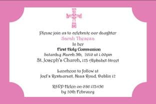 Personalised First Communion Invitations Daughter Design 5