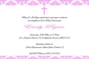 Personalised First Communion Invitations Daughter Design 9