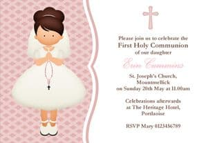 Personalised First Communion Invitations Girl New Design 3
