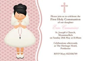 Personalised First Communion Invitations Girl New Design 5