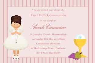 Personalised First Communion Invitations Girl New Design 6