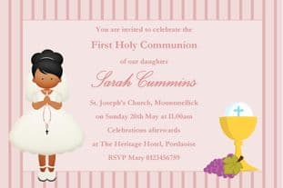 Personalised First Communion Invitations Girl New Design 8