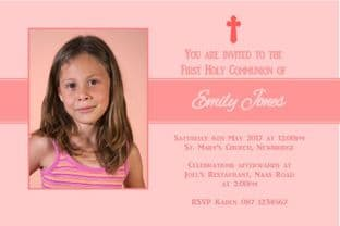 Personalised First Communion Invitations Photo Girl 2