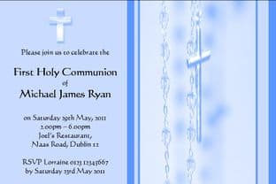 Personalised First Communion Invitations Son Design 4