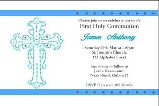 Personalised First Communion Invitations Son Design 6