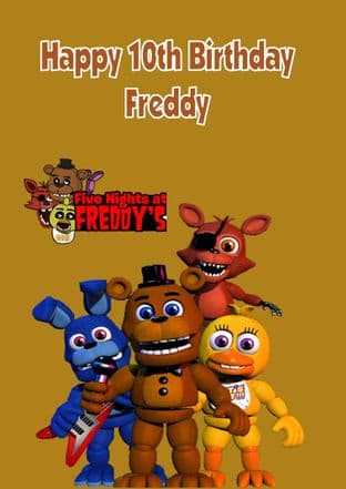 Personalised Five Nights at Freddy's Birthday Card