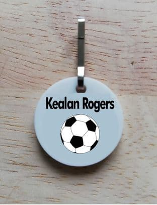 Personalised Football Jacket Zipper Pull