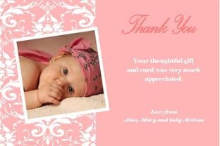 Personalised Girl Christening Thank You Cards 6