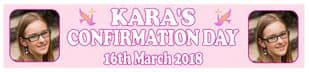Personalised Girl Confirmation Photo Banner Design 2