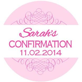 Personalised Girl Confirmation Stickers Design 3