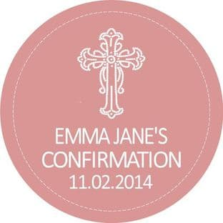 Personalised Girl Confirmation Stickers Design 4