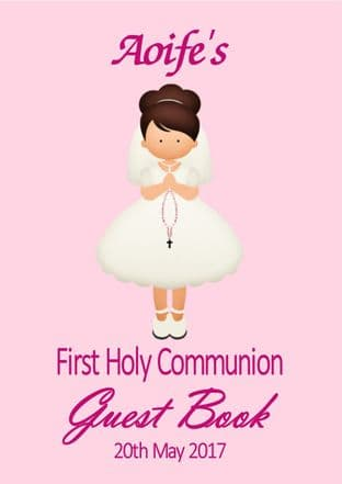 Personalised Girl or Boy Communion Guest Book