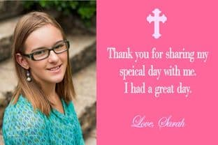 Personalised Girl Photo Confirmation OR Communion Thank You Card 4