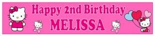 Personalised Hello Kitty Banner
