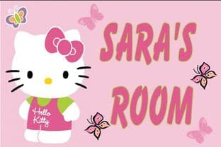 Personalised Hello Kitty Door Plaque Design 1
