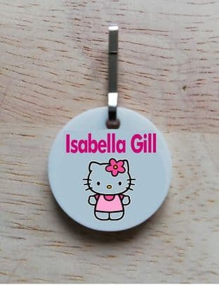 Personalised Hello Kitty Jacket Zipper Pull