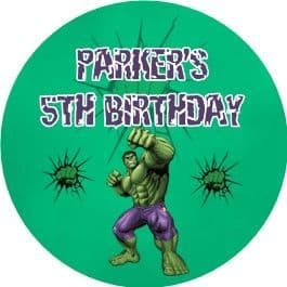 Personalised Incredible Hulk Party Stickers
