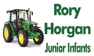 Personalised John Deere Tractor School Book Stickers