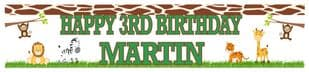 Personalised Jungle Theme Banner