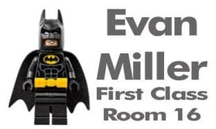 Personalised Lego Batman School Book Stickers