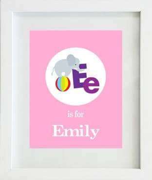 Personalised 'Letter is for' Circle Girls Print