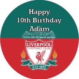 Personalised Liverpool Cake Topper