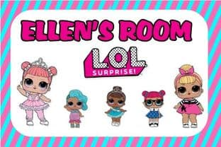 Personalised  LOL Surprise Dolls Door Plaque