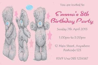 Personalised Me to You Tatty Teddy Invitations