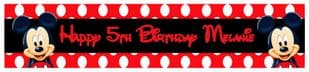Personalised Mickey Mouse Red Banner