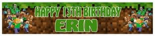 Personalised Minecraft Banner