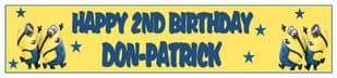 Personalised Minions Banner 2