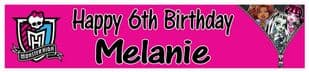 Personalised Monster High Banner