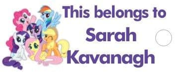 Personalised My Little Pony Keyring School Bag Name Tag