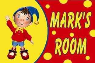 Personalised Noddy Door Plaque