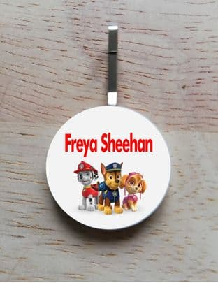 Personalised Paw Patrol Jacket Zipper Pull