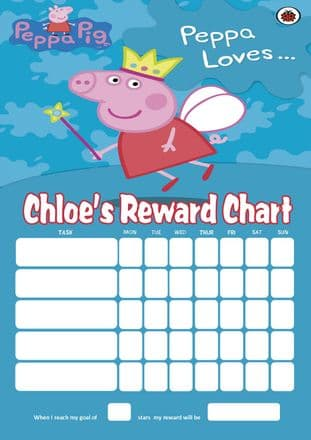 Personalised Peppa Pig Reward Chart (adding photo option available)