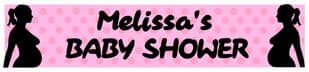 Personalised Pink Baby Shower Banner Design 5