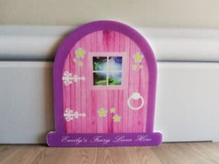 Personalised Pink Fairy Door