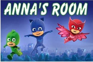 Personalised PJ Masks Door Plaque