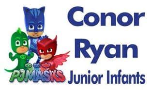 Personalised PJ Masks School Book Stickers