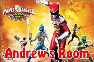 Personalised Power Rangers Dino Charge Door Plaque