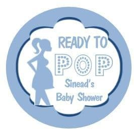 Personalised Ready to Pop Blue Baby Shower Party Stickers