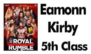 Personalised Rectangle WWE Royal Rumble School Book Stickers
