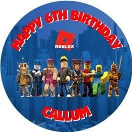 Personalised Roblox Cake Topper