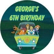 Personalised Scooby Doo Party Stickers